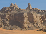 Great Rocky Mountains View in Tassili N'Ajjer  UNESCO World Heritage Site  Algeria  North Africa