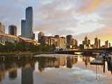 Sunrise  Melbourne Central Business District (Cbd) and Yarra River  Melbourne  Victoria  Australia