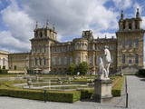 The Water Garden and Garden Wing  Blenheim Palace  Oxfordshire  England  United Kingdom  Europe