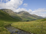 The High Stile Group From Honister Valley  Lake District National Park  Cumbria  England  Uk
