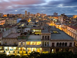 View Over Havana Centro at Night From 7th Floor of Hotel Seville  Havana  Cuba
