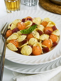 Orecchiette Pasta With Melon Ball  Prosciutto (Ham)  Parmesan Cheese and Basil  Italy  Europe