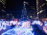 Christmas Tree and Decorations Above Cheonggye Stream at Cheonggye Plaza  Seoul  South Korea
