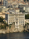 View From Helicopter of Monaco Oceanography Museum and Monte Carlo  Monaco  Cote D&#39;Azur