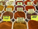Spices on Stall in the Market in Kalkan  Anatolia  Turkey  Asia Minor  Eurasia