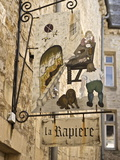 Inn Sign in the Old Town  Bayeux  Calvados  Normandy  France  Europe