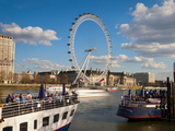 London Eye and River Thames  London  England  United Kingdom  Europe
