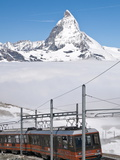 Matterhorn and Gornergrat Cog Wheel Railway  Gornergrat  Switzerland  Europe