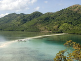 Vigan Island  the Snake Island Sand Spit  Bacuit Bay  Palawan  Philippines  Southeast Asia  Asia