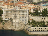 View From Helicopter of Oceanography Museum  Monaco  Cote D'Azur  Europe