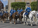 Mounted Military Band  Stockholm  Sweden  Scandinavia  Europe