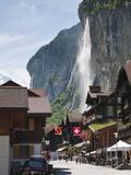Staubbach Falls in Lauterbrunnen  Jungfrau Region  Switzerland  Europe