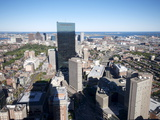 Aerial View of Boston From the Prudential Sky Walk  Boston  Massachusetts  New England  USA