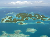 Seventy Islands (Ngerukewid Islands Wildlife Preserve)  Forest-Covered Limestone Rock  Palau