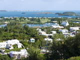 Looking Out Over Great Sound and Smaller Riddell's Bay  Bermuda  Central America