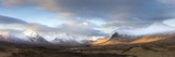 Panoramic View Across Rannoch Moor Towards Mountains of the Black Mount Range  Scotland