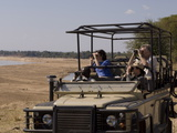 Game Spotting on Safari  South Luangwa National Park  Zambia  Africa