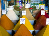 Colourful Spices in the Souk of the Coastal City of Essaouira  Morocco  North Africa  Africa