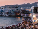 Little Venice  Mykonos Town  Chora  Mykonos  Cyclades  Greek Islands  Greece  Europe