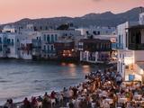Little Venice  Mykonos Town  Chora  Mykonos  Cyclades  Greek Islands  Greece  Europe