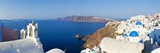 Blue Domed Churches in the Village of Oia, Santorini (Thira), Cyclades Islands, Aegean Sea, Greece Papier Photo par Gavin Hellier