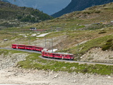 Mountain Railway  Bernina Pass  Switzerland  Europe