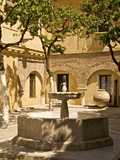 Patio With Fountain at Divino Salvador Church  Seville  Andalusia  Spain  Europe