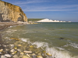 View of the Seven Sisters  Hope Gap Beach  Seaford Head  East Sussex  England