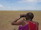 Masai Guide  Masai Mara  Kenya  East Africa  Africa