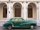 Classic Green American Car Parked Outside the National Ballet School  Havana  Cuba