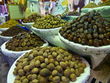 Dates  Walnuts and Figs For Sale in the Souk of the Old Medina of Fez  Morocco  North Africa
