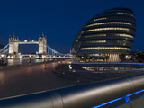 Tower Bridge and City Hall Dusk  London  England  United Kingdom  Europe