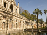 Grotesque Gallery and Mercury Pond in Reales Alcazares Gardens  Seville  Spain