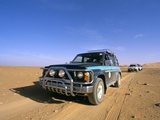 Jeeps Driving Through Desert  Erg Murzuq  Sahara Desert  Fezzan  Libya  North Africa  Africa