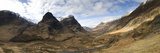 Panoramic View of Glencoe Showing the Three Sisters of Glencoe Mountains  Scotland