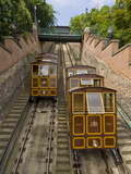 Buda Castle Funicular Railway  Castle District  Pest Side of the Danube  Central Budapest  Hungary