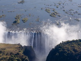 Victoria Falls  UNESCO World Heritage Site  Zambesi River  on the Border of Zambia and Zimbabwe