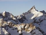 Zinalrothorn  4221M  Mountain Scenery in Cervinia Ski Resort  Valle D'Aosta  Italian Alps