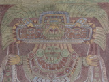 Mural in the Palace of Tetitla  Believed to Be Representation of Goddess of Teotihuacan  Mexico