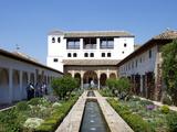 Generalife  Alhambra Palace  UNESCO World Heritage Site  Granada  Andalucia  Spain  Europe