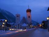 Church in Winter Snow at Dusk  St Anton Am Arlberg  Austrian Alps  Austria  Europe