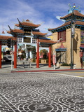 Central Plaza East Gate in Chinatown  Los Angeles  California  USA
