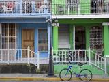 Calle Street in San Juan Del Sur  Department of Rivas  Nicaragua  Central America