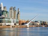 Puente De La Mujer  Buenos Aires  Argentina  South America