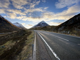 A82 Trunk Road Heading Across Rannoch Moor Towards Glencoe  Scotland