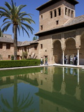 Ladies Tower  Partal Palace  Alhambra Palace  UNESCO World Heritage Site  Granada  Andalucia  Spain