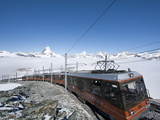 Matterhorn and Gornergrat Cog Wheel Railway  Goronergrat Peak  Switzerland  Europe