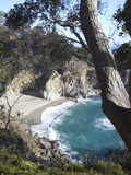 Waterfall and Beach at Julia Pfeiffer Burns State Park  Near Big Sur  California