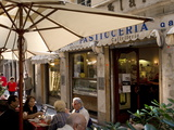 Cafe  Genoa Port  Liguria  Italy  Europe
