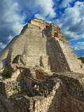 Pyramid of the Magician  Mayan Archaeological Site  Uxmal  Yucatan State  Mexico